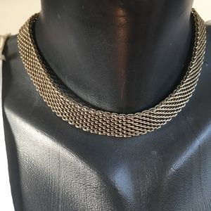 90's VTG Think Chain Unisex Dog Collar Necklace